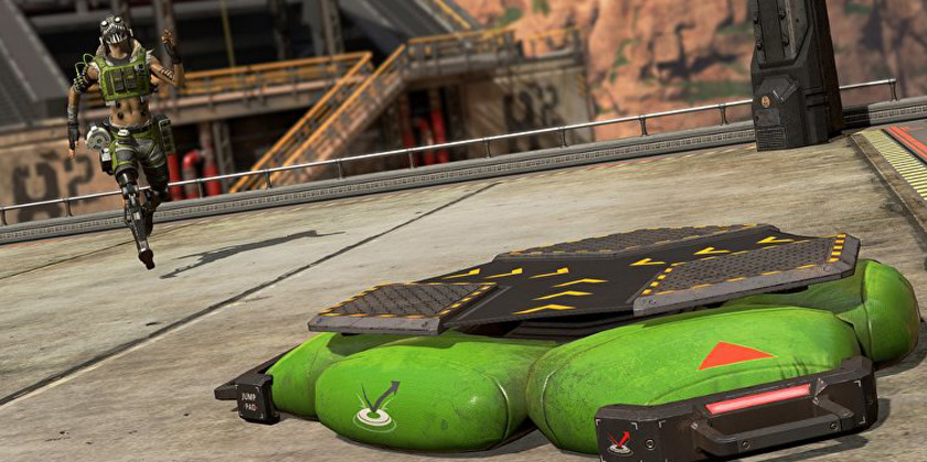 apex legends octane jump pad